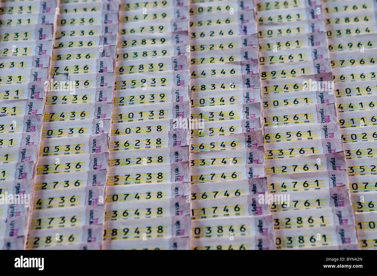 Lottery tickets, Bangkok, Thailand Stock Photo: 34270285 - Alamy