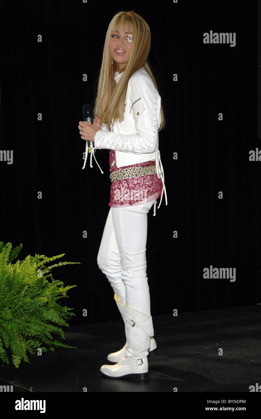 Miley Cyrus aka  Hannah  Montana Disney Consumer Product show at the Jacob Javits Center  New York City, USA - 19.06.07 Stock Photo