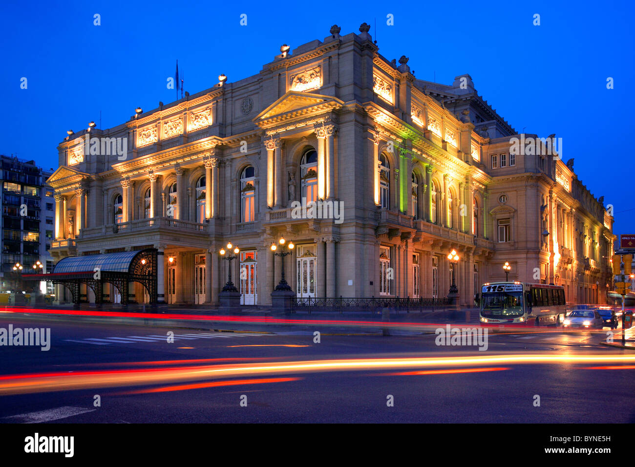 Colon Theater, after the bicentenarian celebration and its restauration, in 2010. - Stock Image