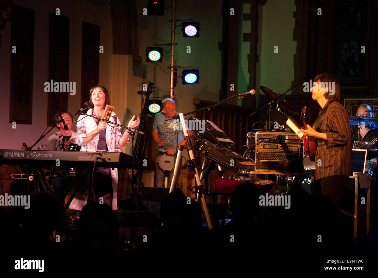 The Celtic Rock musical band Iona in concert in the UK, 2010 - Stock Image