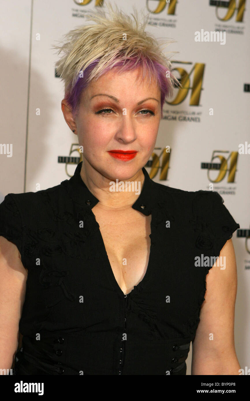 Cyndi Lauper True Colors After Party Stock Photos Cyndi Lauper