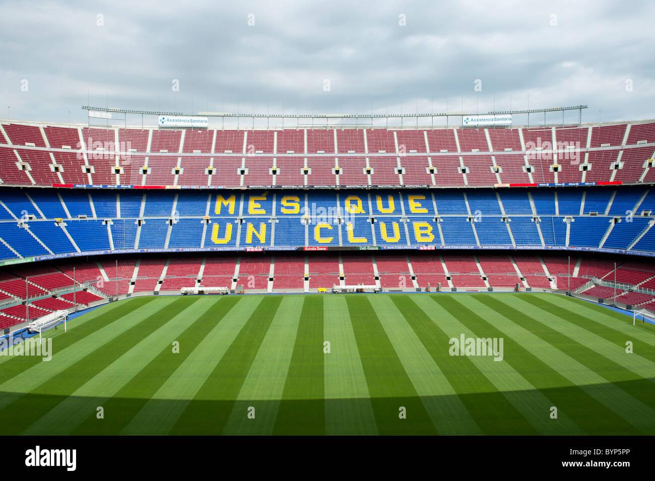 Nou Camp Stadium Barcelona Spain - Stock Image