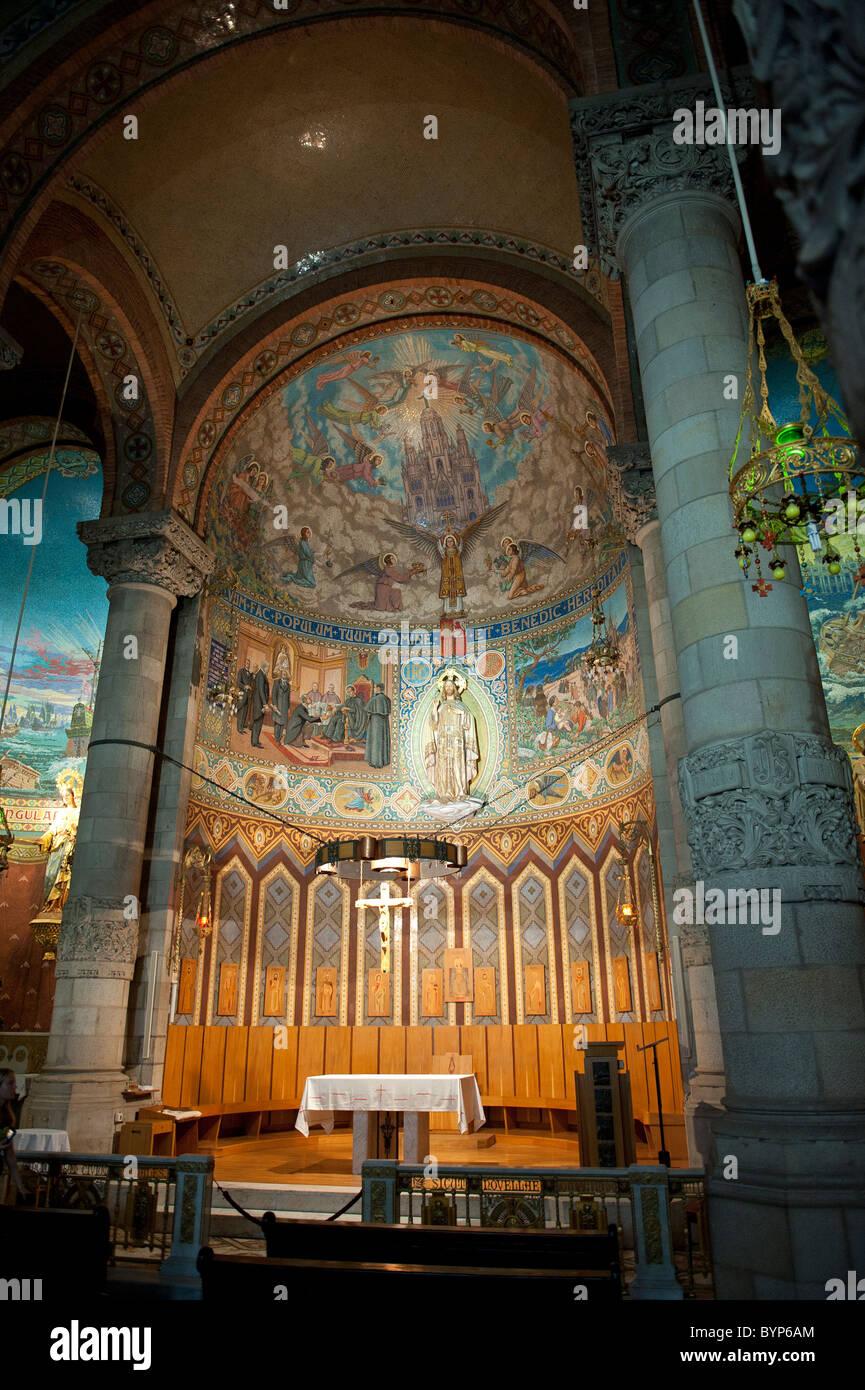 Sagrado Corazón Church Mount Tibidabo Barcelona Spain Stock Photo
