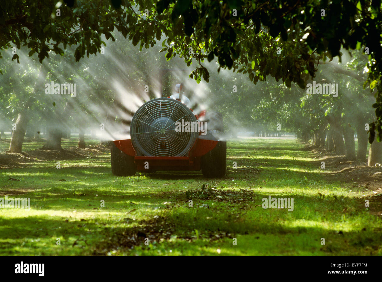 Agriculture Chemical Application Fan Spraying In A