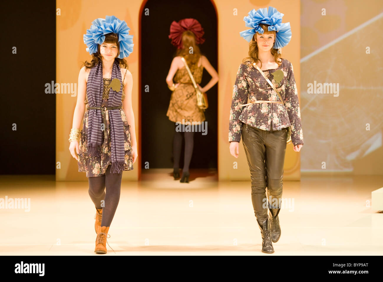 6f667202c79 Two women showing modern everyday dress at Copenhagen International Fashion  Fair