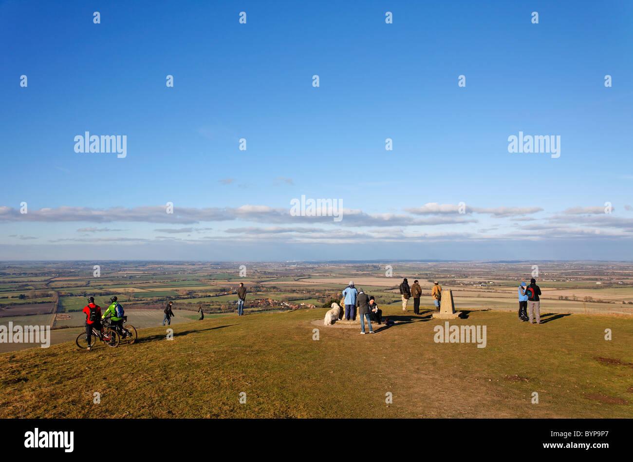Ivinghoe Beacon in the Chiltern Hills, Buckinghamshire, England, UK - Stock Image