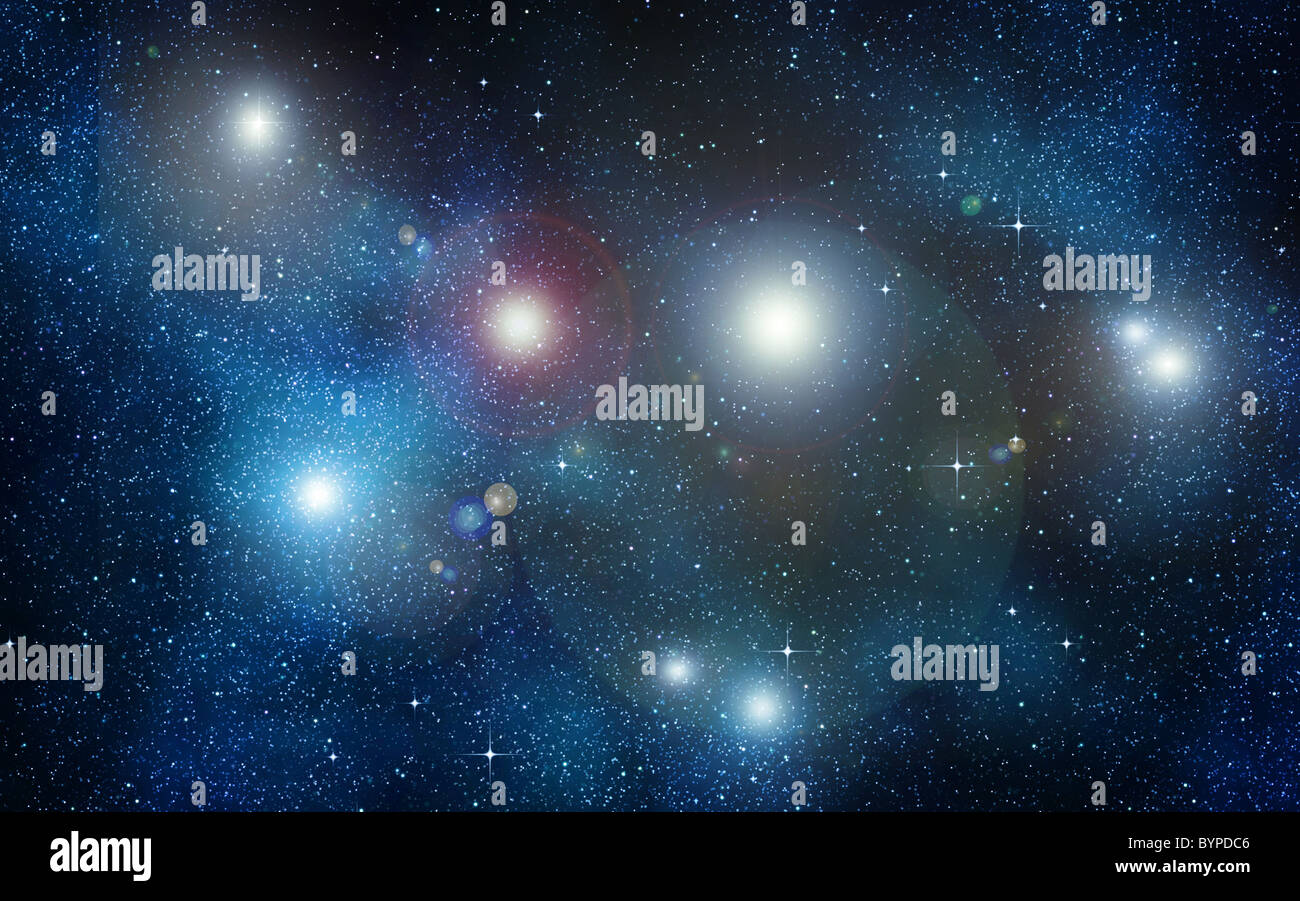 great image of space or a starry night sky  - Stock Image