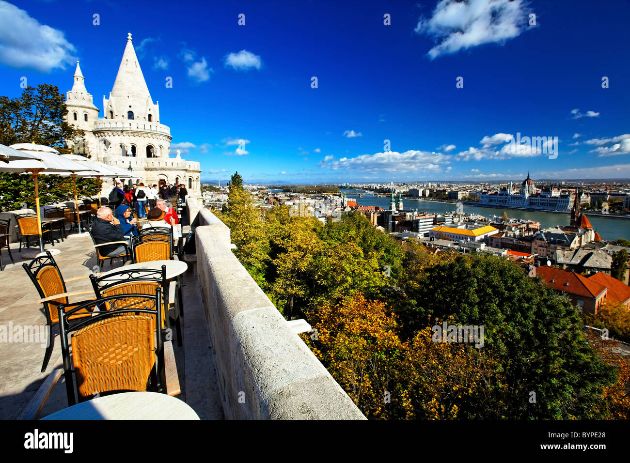 View from the Fisherman's Bastion, Budapest, Hungary - Stock Image