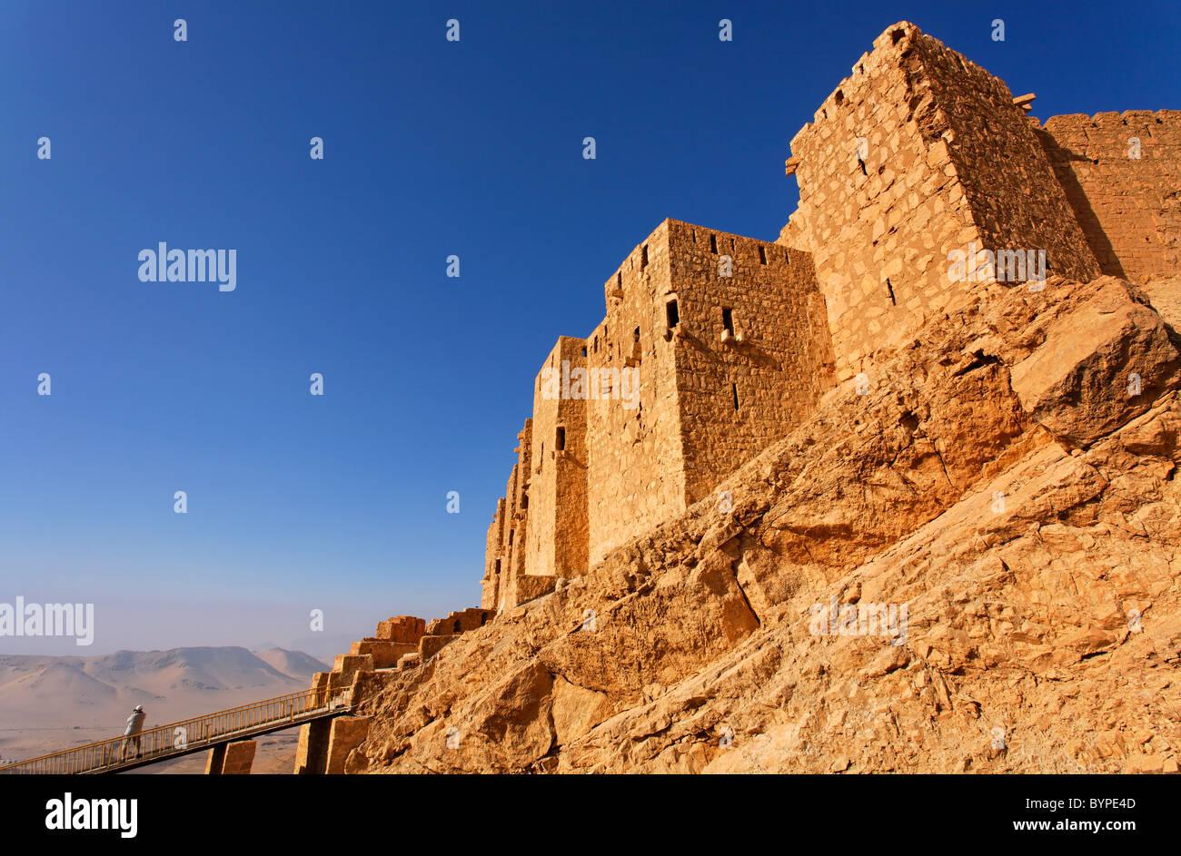 Qalaat Ibn Maan, the Arab Castle, at Palmyra, Syria - Stock Image