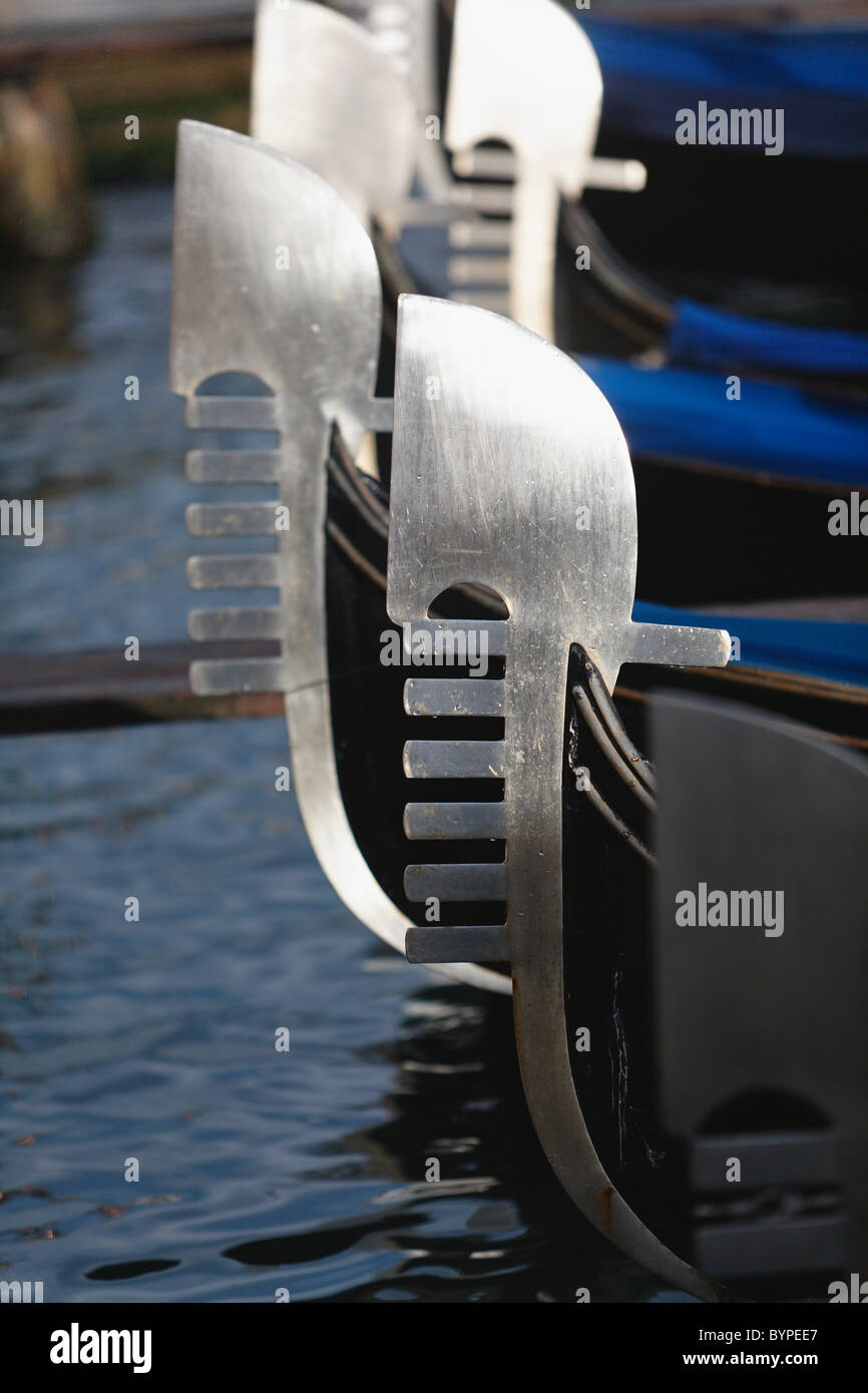 Close Up Views of Gondola Bows - Stock Image
