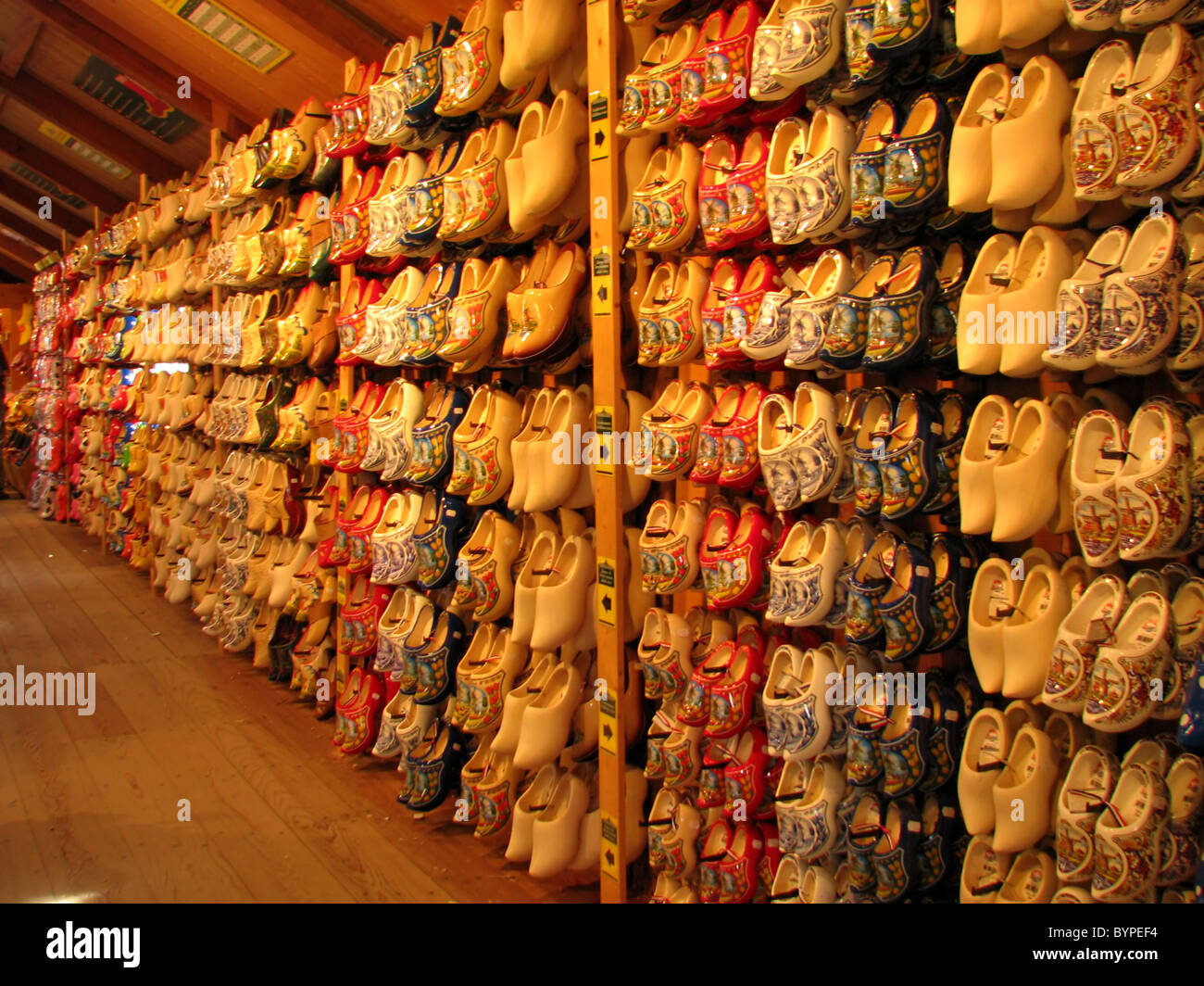 Dutch painted wooden shoes on display in factory store near Amsterdam  Netherlands 2008 a7b779ce7a2c