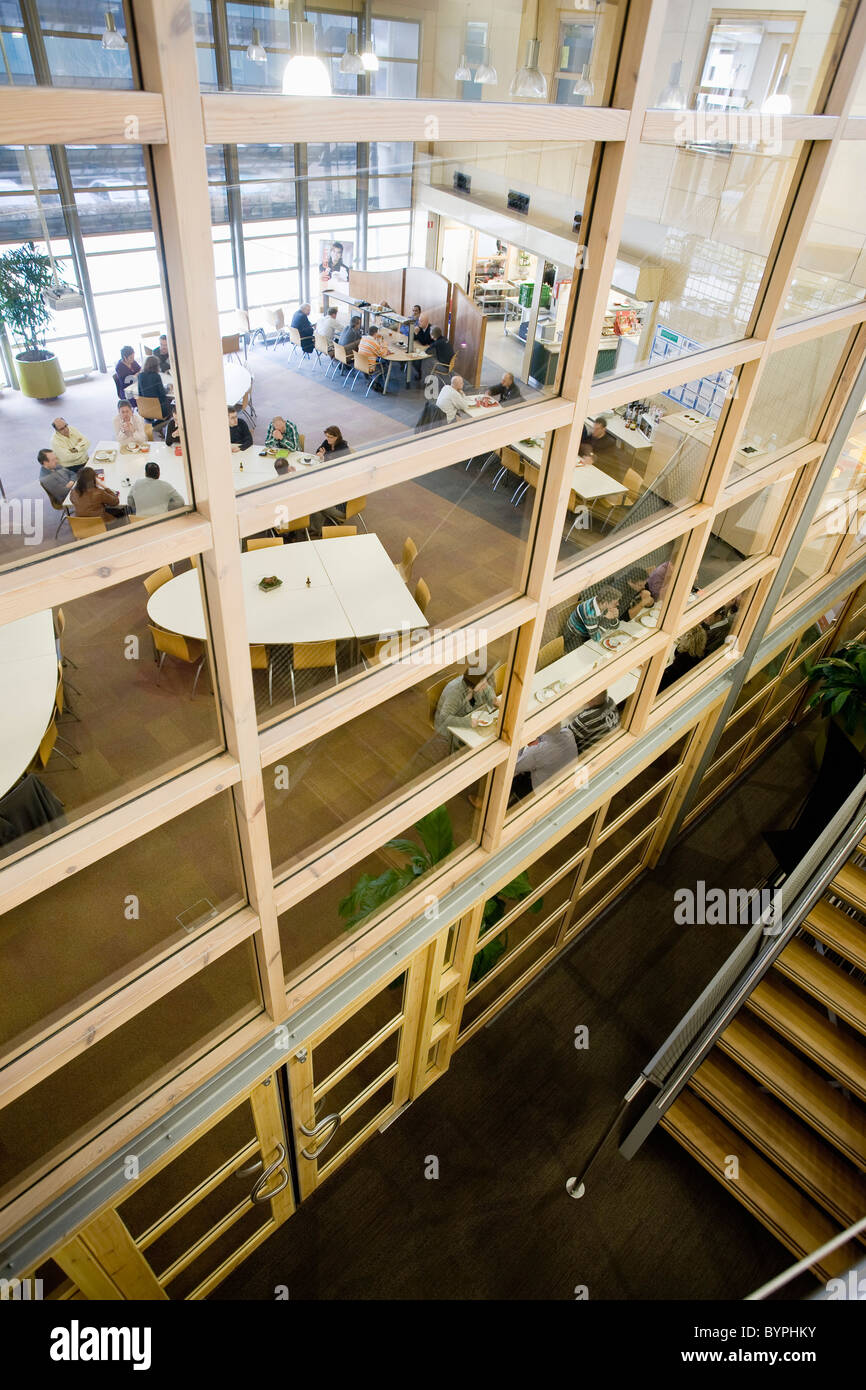 Carpet factory cafeteria - Stock Image