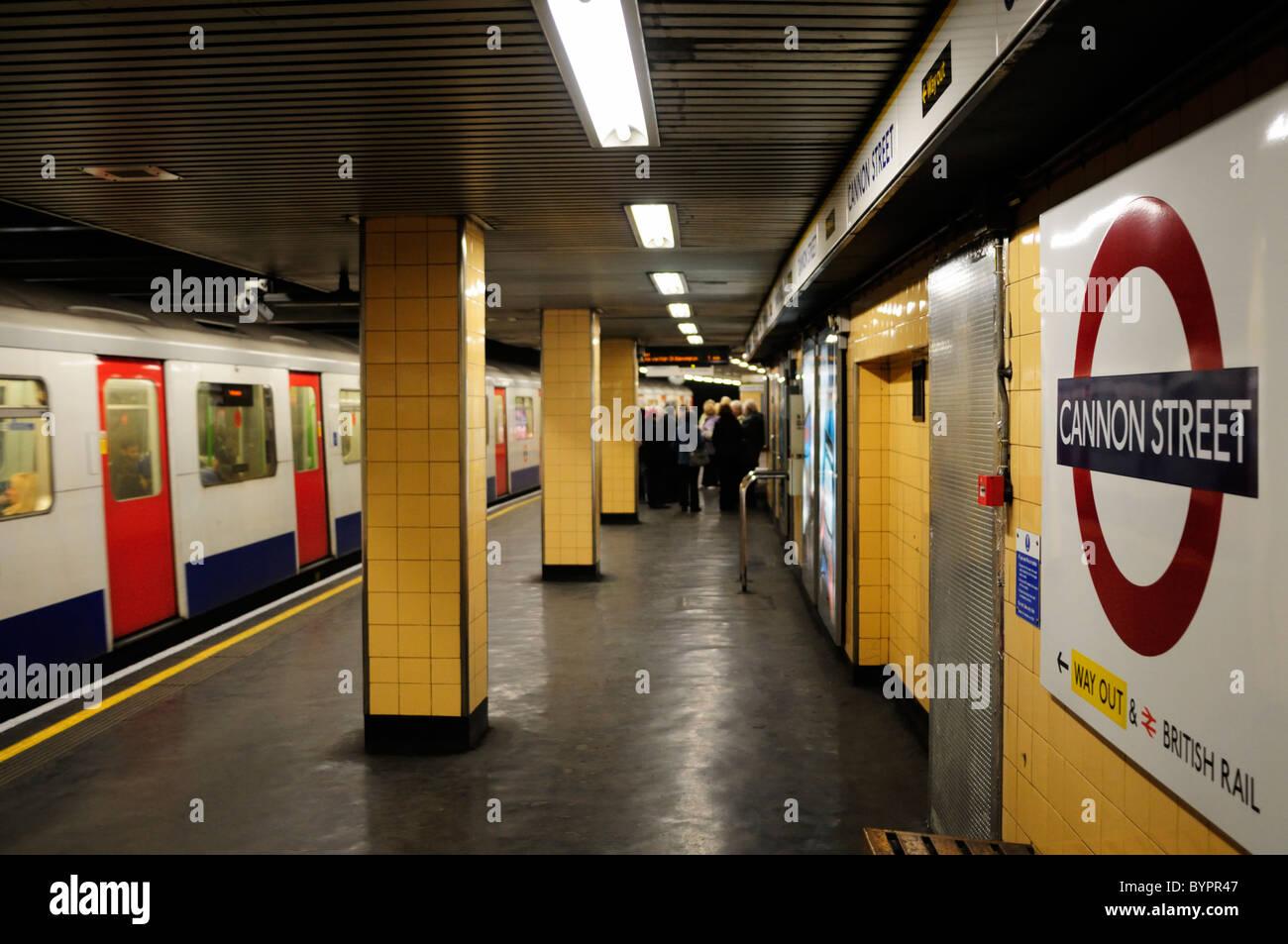 Cannon Street Underground Tube Station, London, England, UK - Stock Image