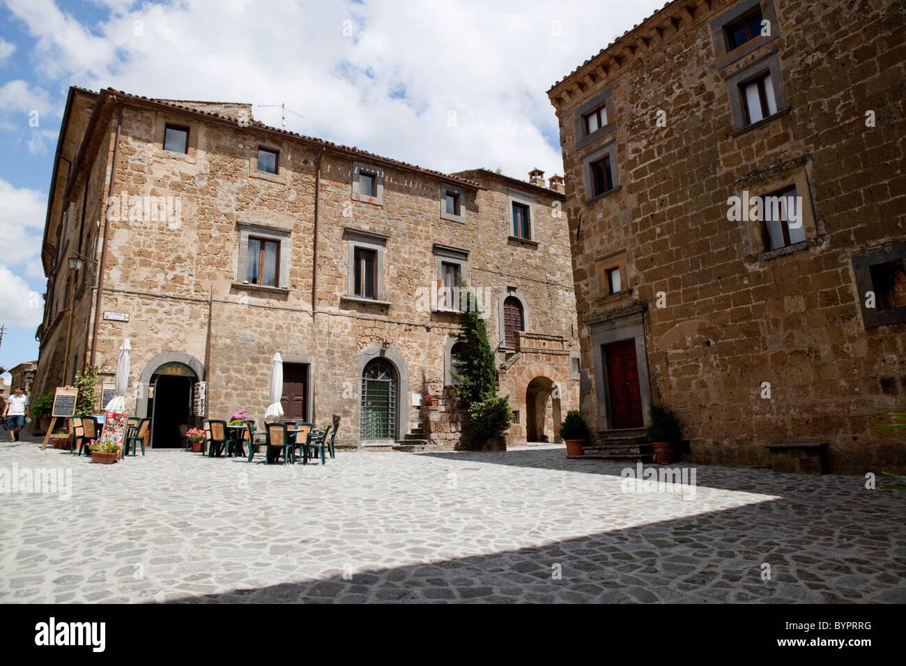 Civita Di Bagnoregio Main Square Viterbo Province Lazio Italy