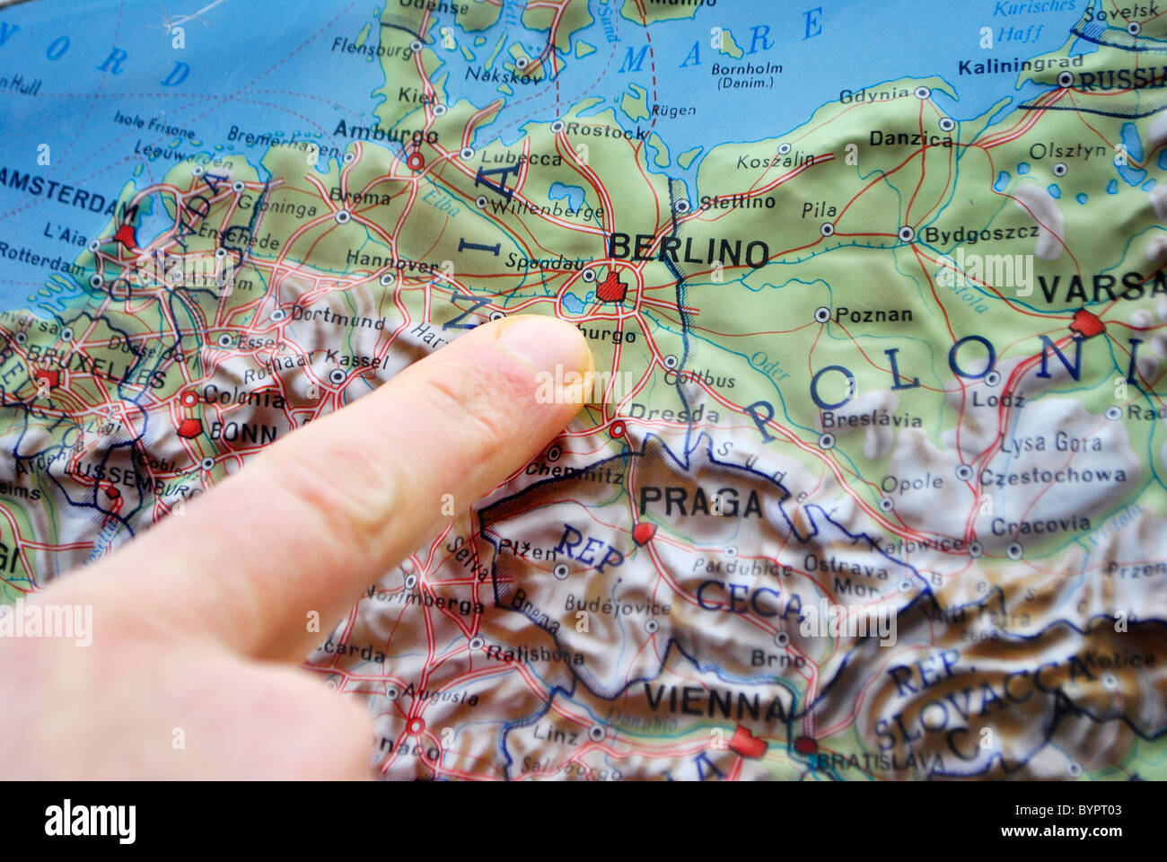 Map Of Germany France.Map In Relief Europe France Germany Italy Stock Photo 34307843 Alamy