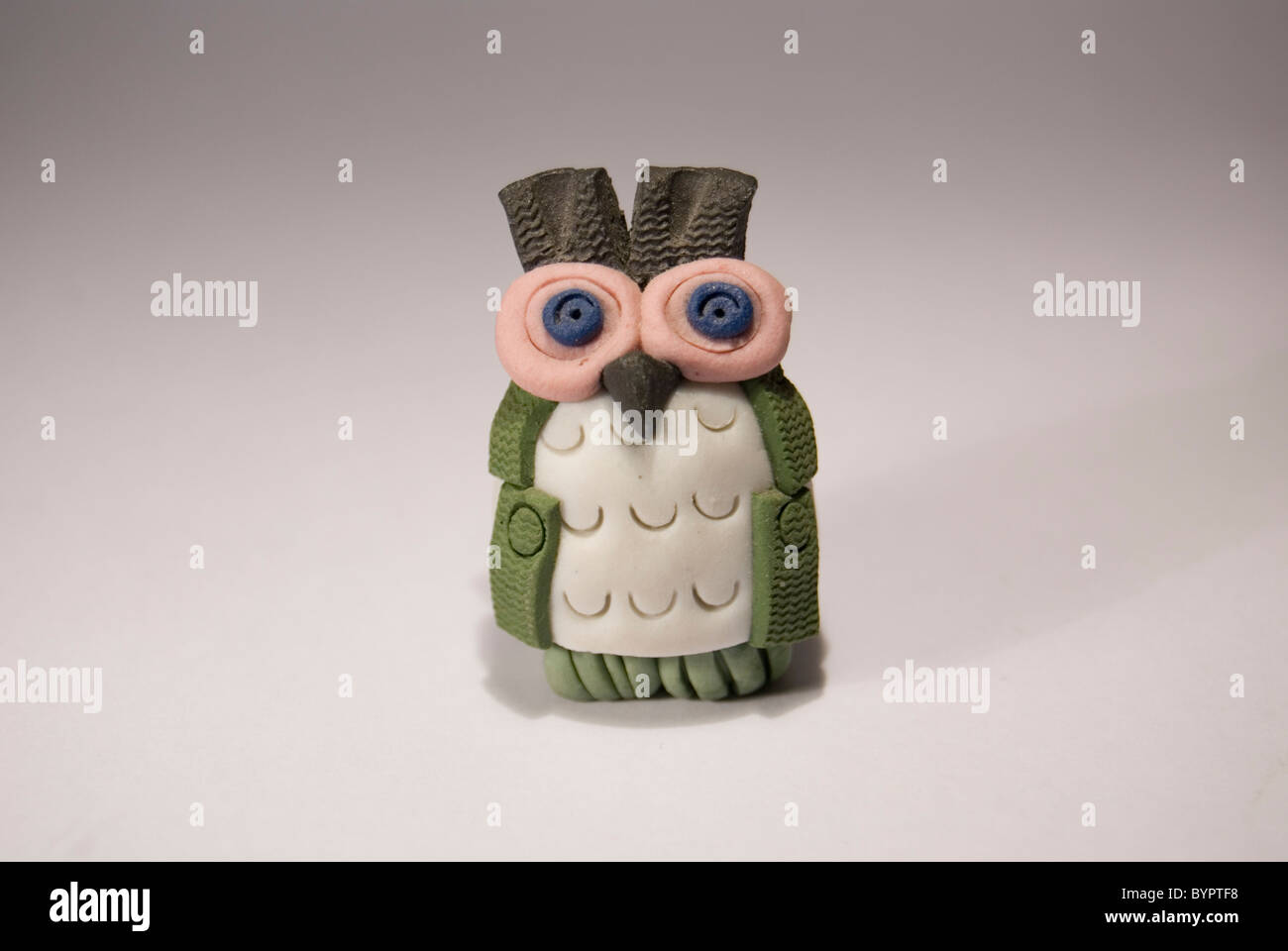 Owl of mud appears - Stock Image