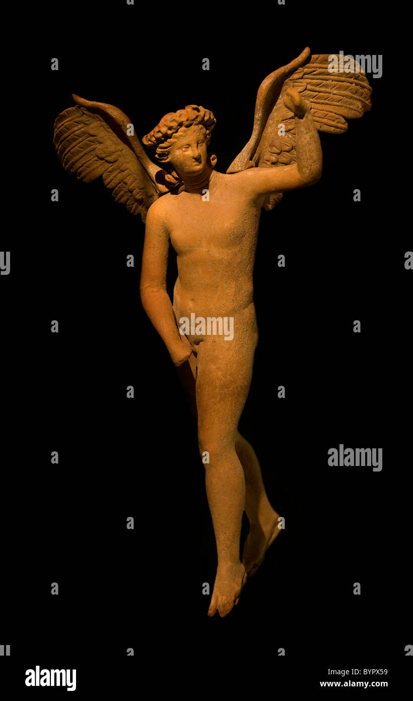 Angel Hellenistic Asia Minor 300 BC Greek pottery Earthenware Greece - Stock Image