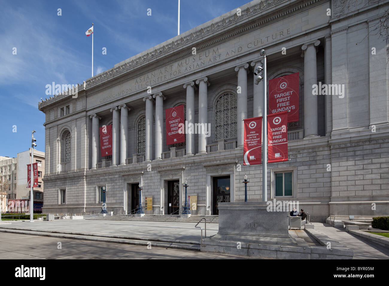 The Asian Art Museum in San Francisco's Civic Center plaza. - Stock Image