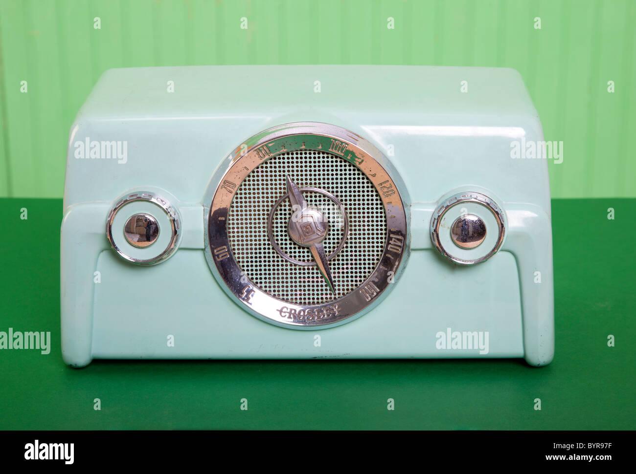 vintage radio - Stock Image