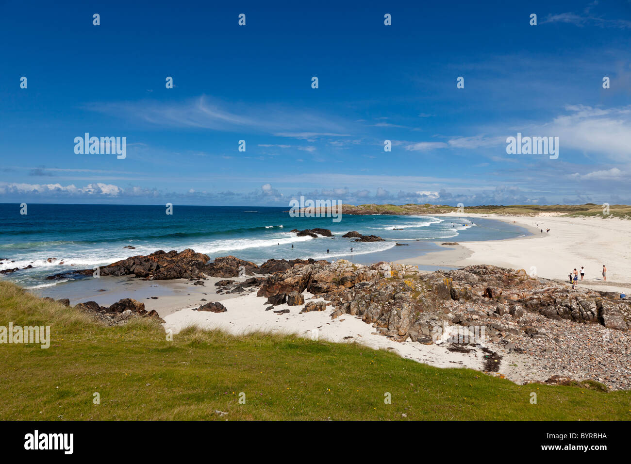 Uk, Scotland, Argyll & Bute, Inner Hebrides, Tiree, Balevullin Beach - Stock Image