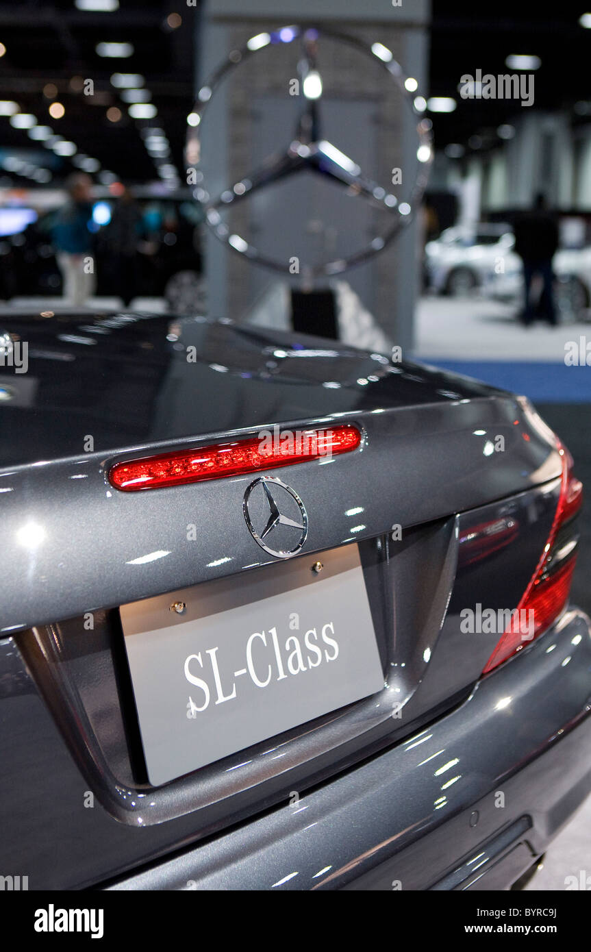 Mercedes-Benz the Washington Auto Show.  Stock Photo