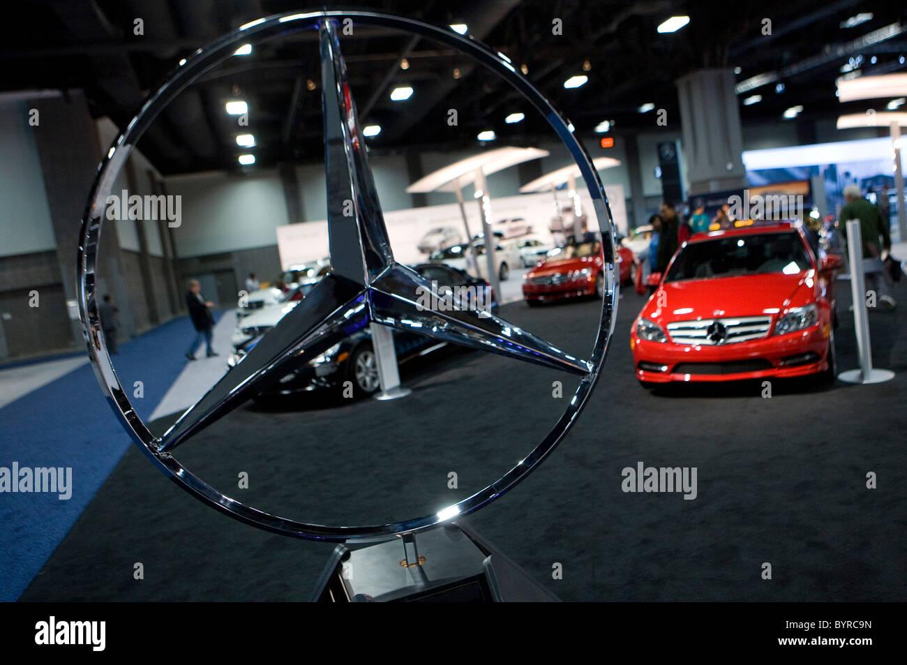 Mercedes-Benz the Washington Auto Show.  - Stock Image