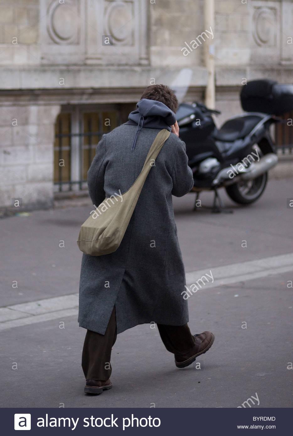 People walking - Paris France Stock Photo