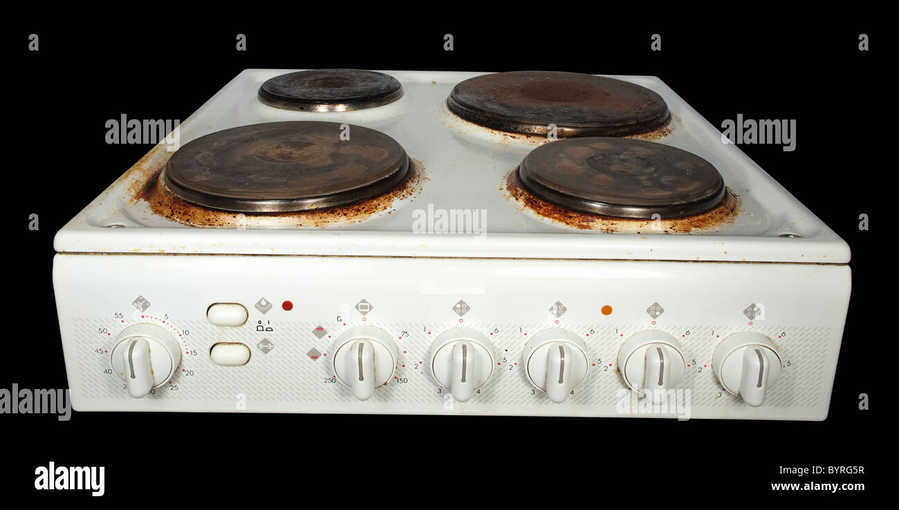Old Fashioned Kitchen Hob ~ Old electric stove stock photos