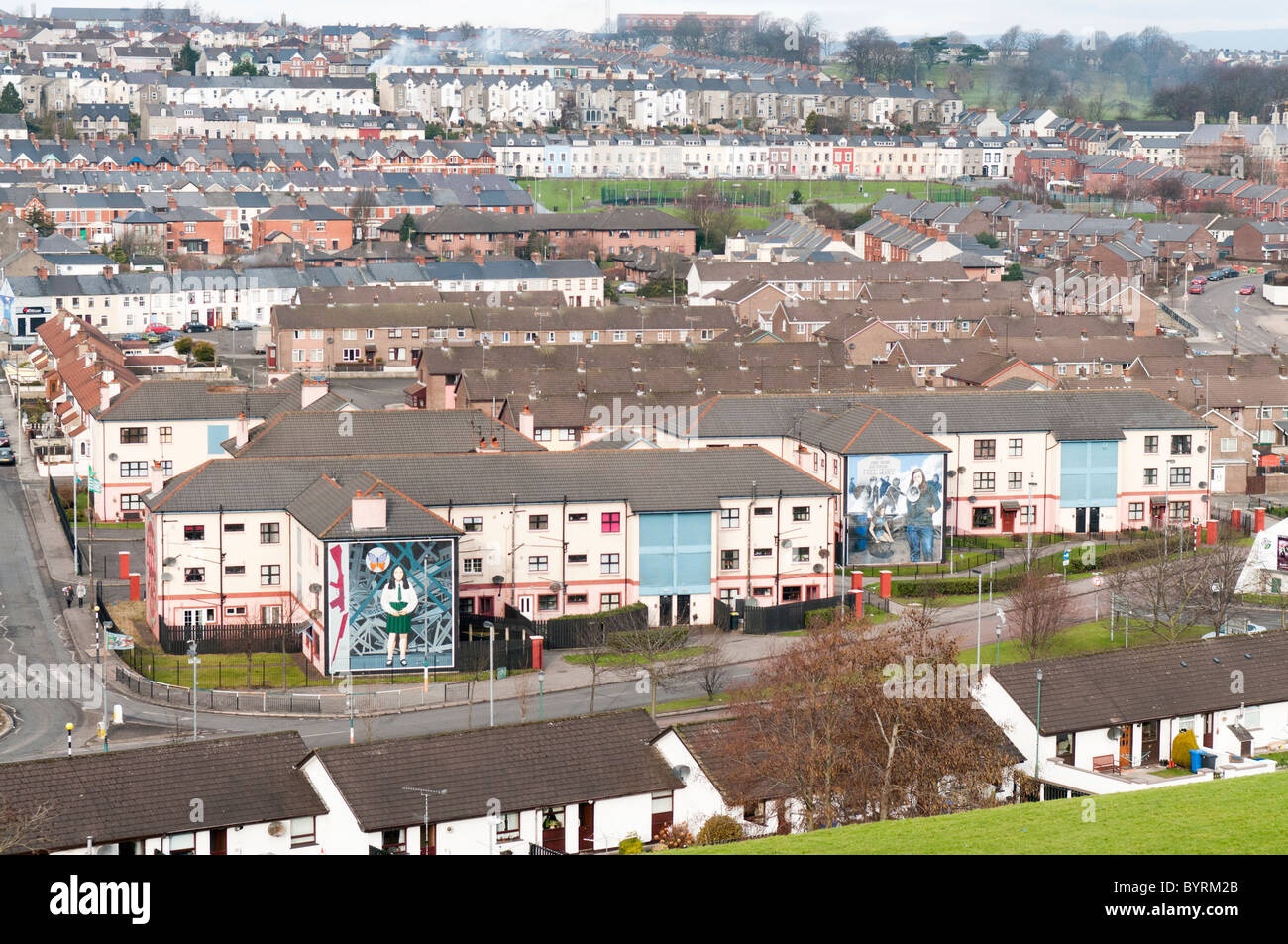 Overlooking the Bogside, Derry - Stock Image