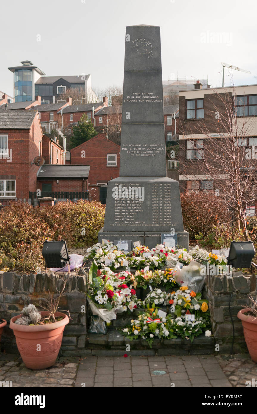 Memorial to the victims of Bloody Sunday, Derry - Stock Image