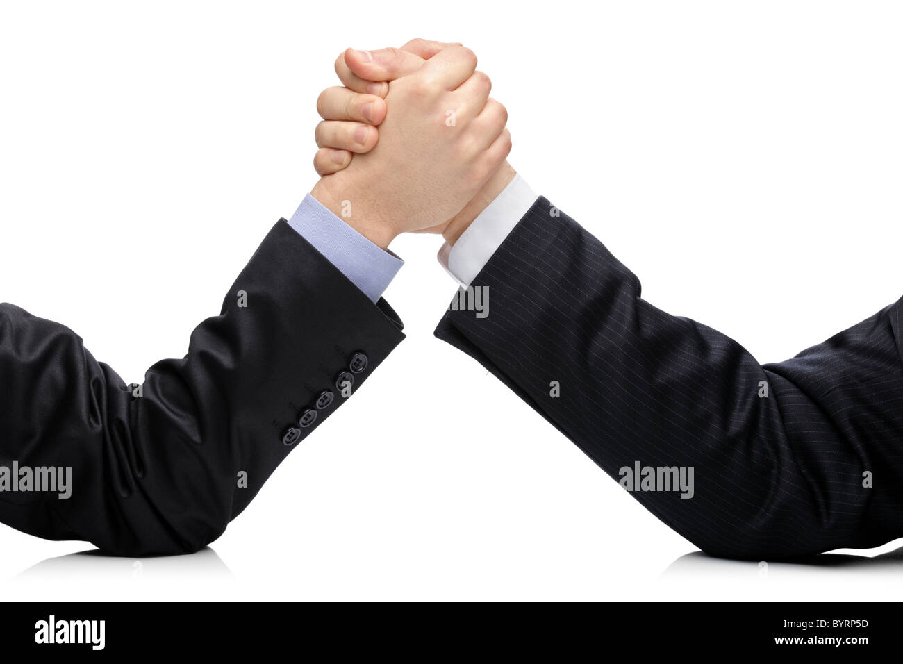 Business rival competition concept with two businessmen - Stock Image