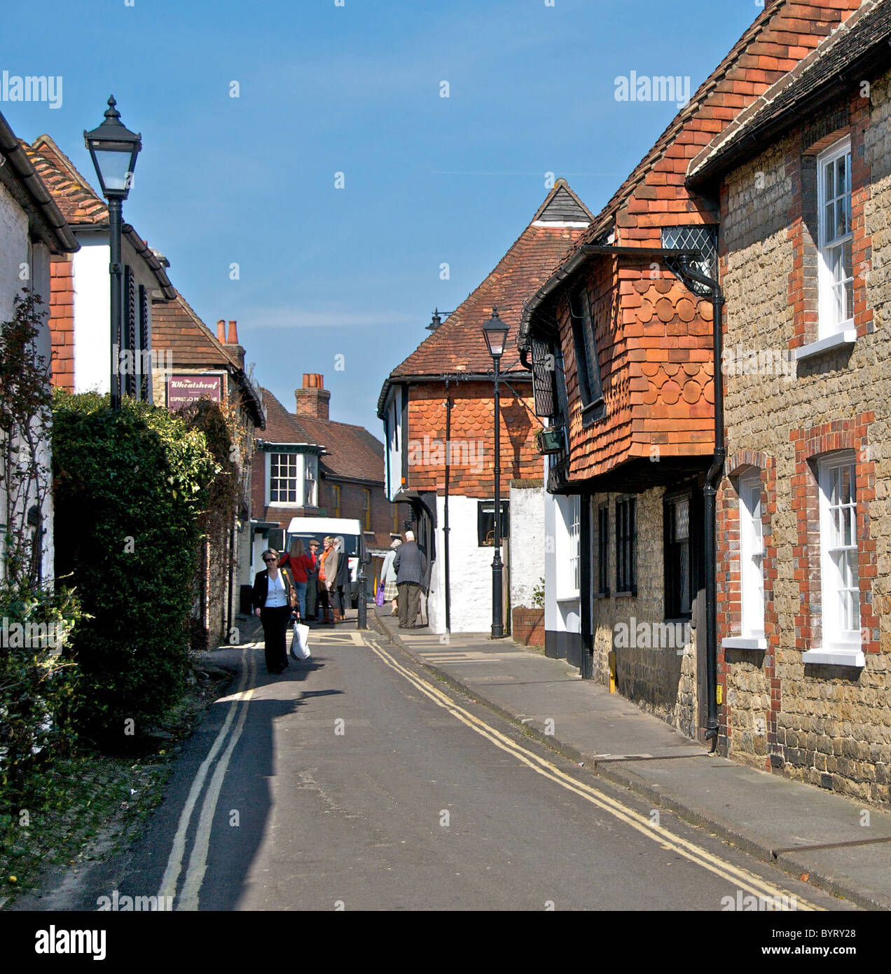 The Old Market Town Of Midhurst In West Sussex This Scene
