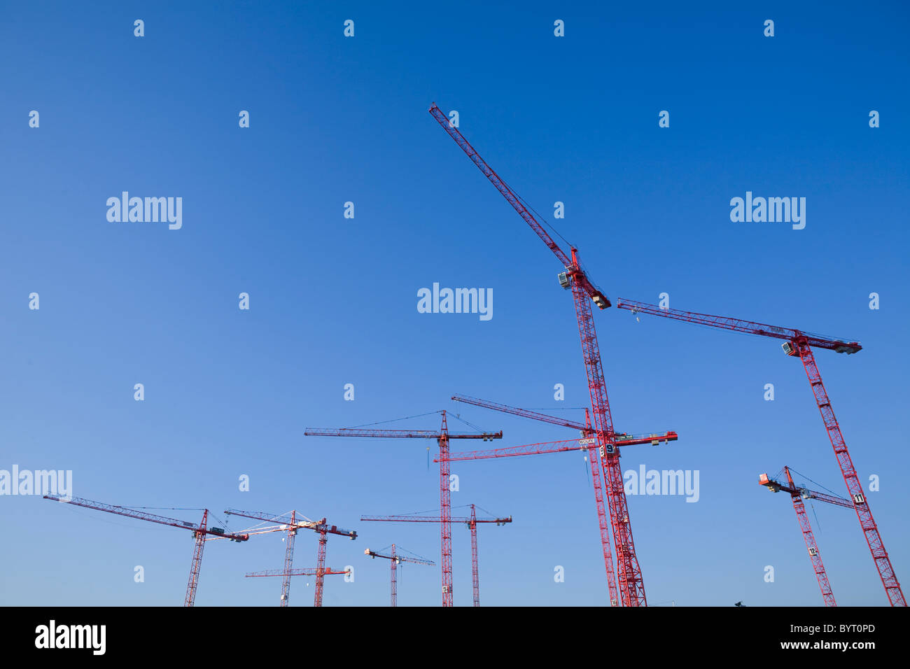 Building cranes - Stock Image