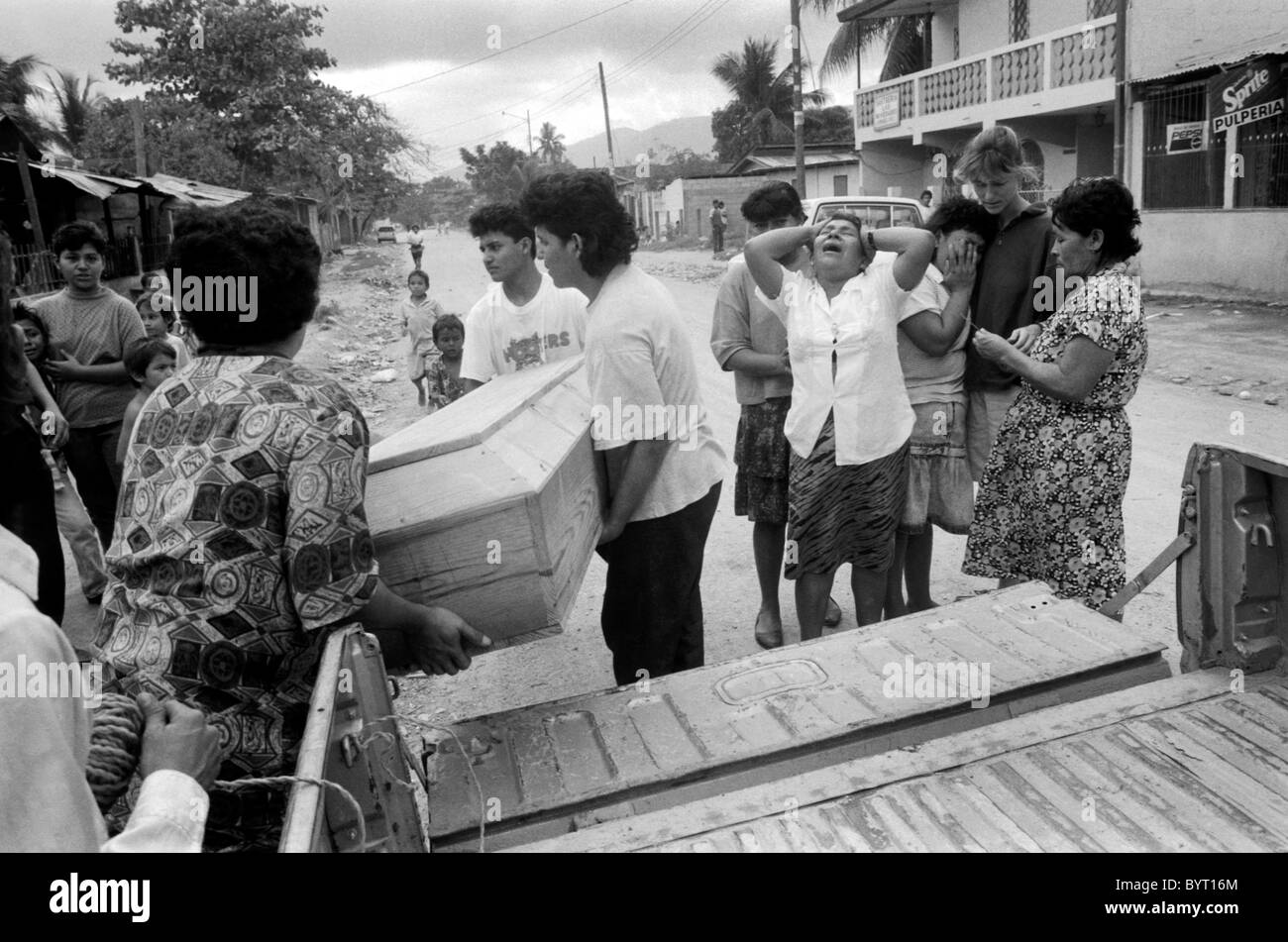Funeral of AIDS sufferer in San Pedro Sula Honduras Stock Photo