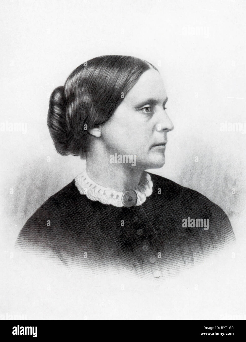 Susan B (Brownell). Anthony (1820-1906) was an American civil rights leader, particularly involved in the women's - Stock Image