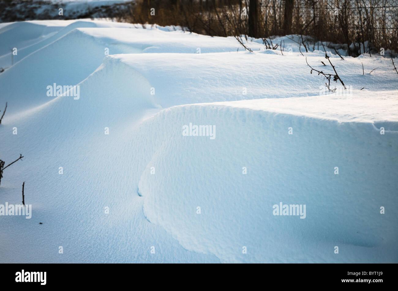 Snow drifts - Stock Image