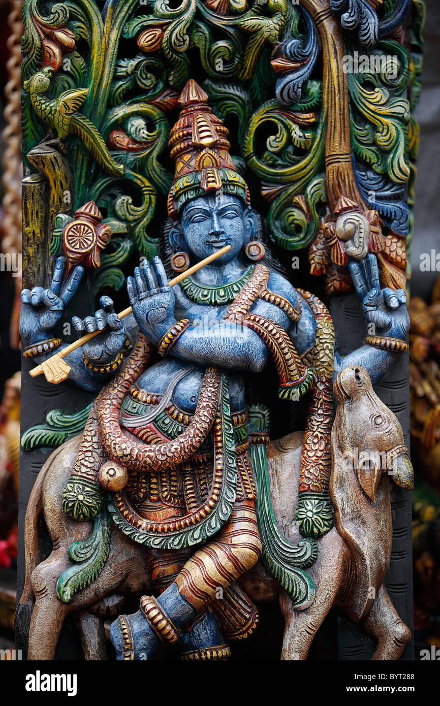 Indian God,God,Hinduism,Typical Indian,Traditionally Indian,Asian Ethnicity,Spirituality,Rural site,Hindu god idols. Stock Photo