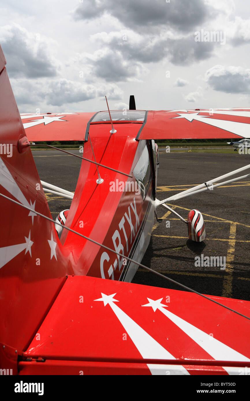 Red aerobatic plane - Stock Image