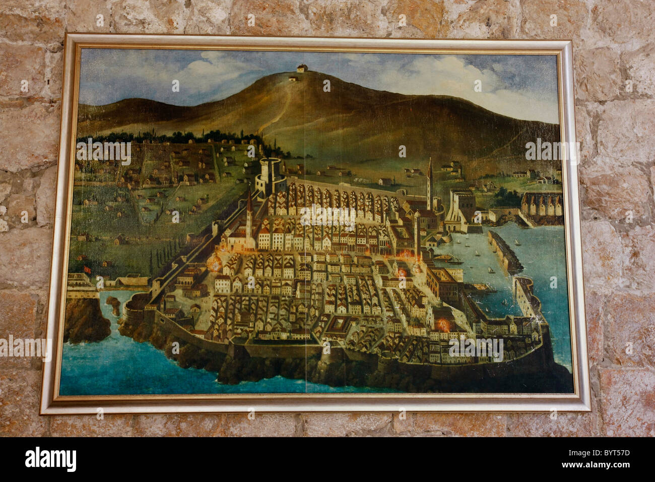 Old map of dubrovnik croatia stock photo 34337057 alamy old map of dubrovnik croatia gumiabroncs Gallery