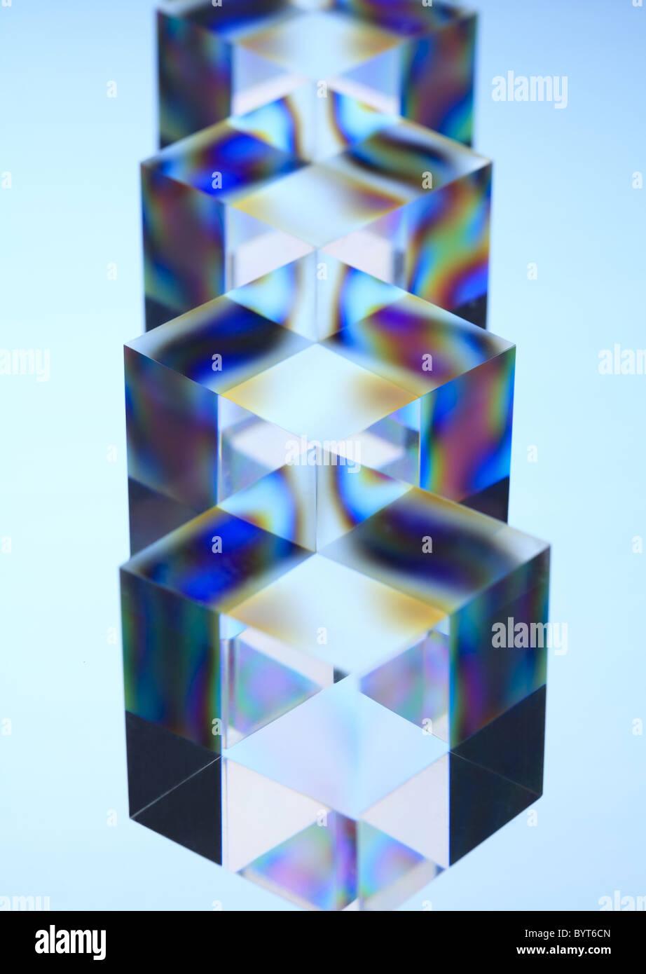 Acrylic Cubes - Stock Image