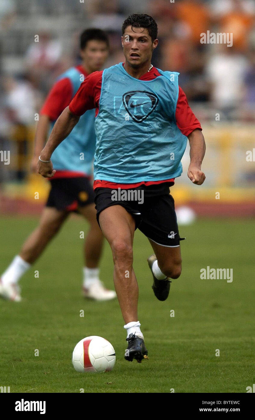 Cristiano Ronaldo Manchester United Football Team Training In Macao Ahead Of Their Match Against Chinas Shenzhen