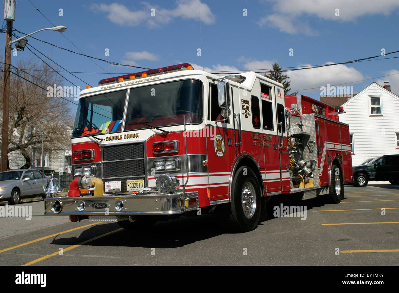 Diagram Of Pierce Fire Engine Fd Nj Stock Photos Images Alamy Truck