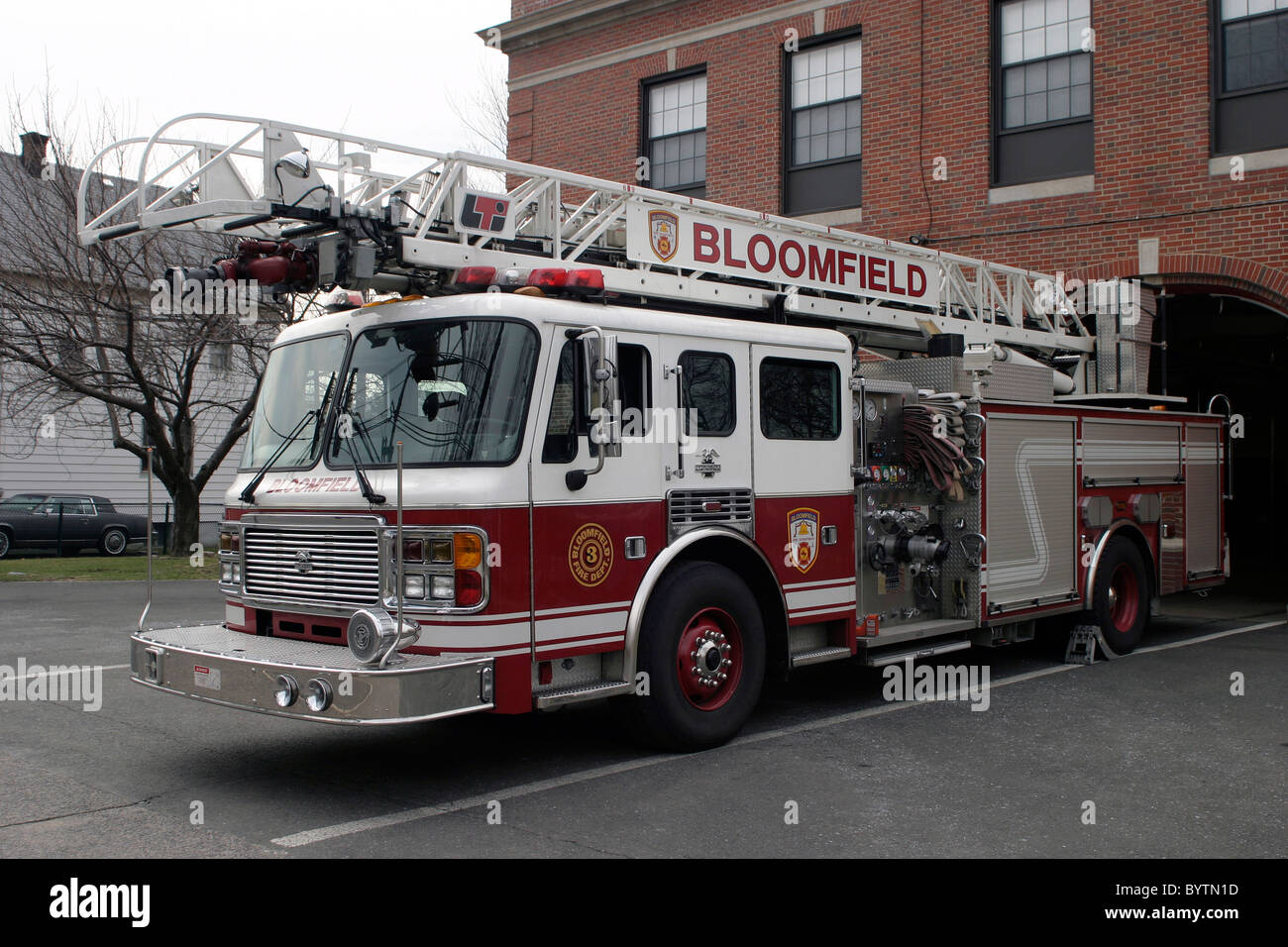 American Le France Ladder truck - Stock Image
