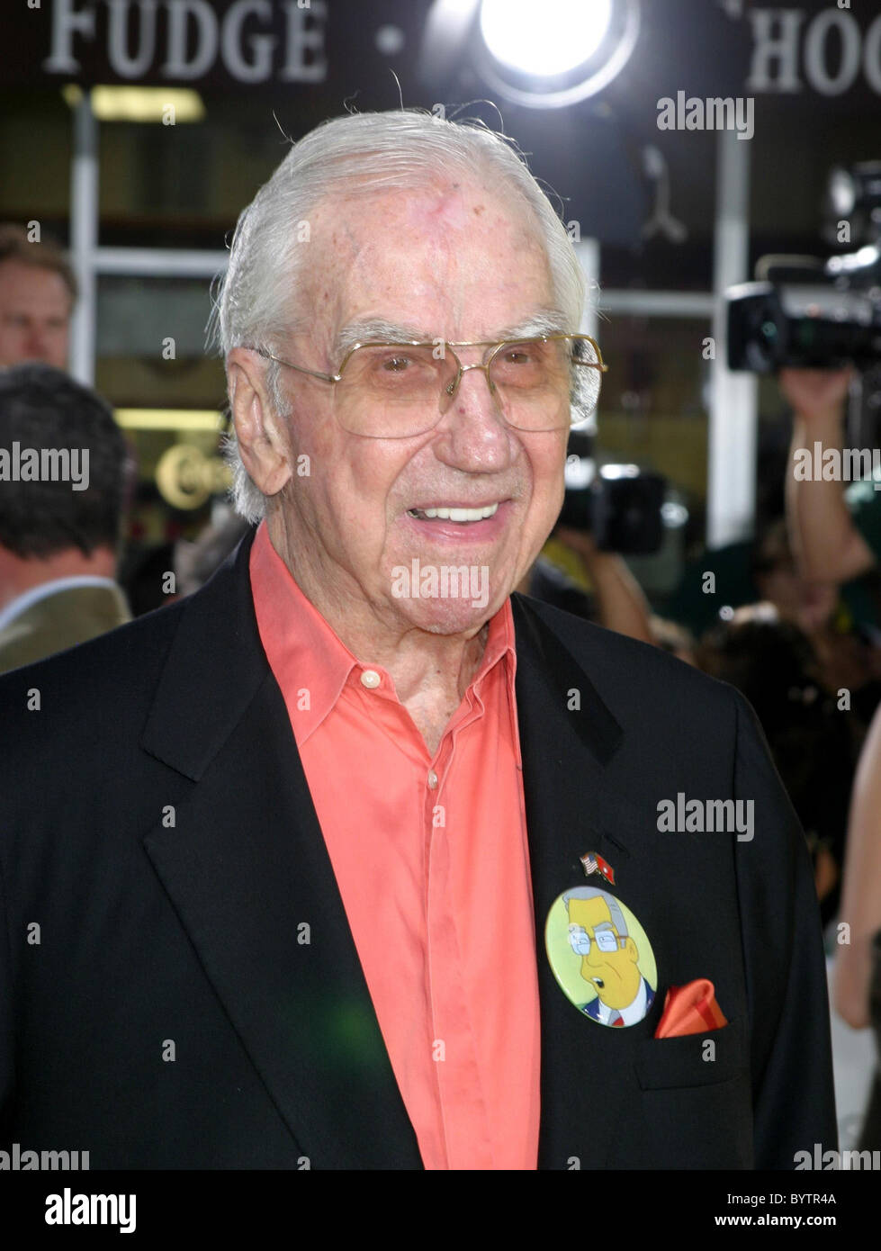 Ed Mcmahon The Simpsons Movie Premiere At The Mann Village Theater Stock Photo Alamy