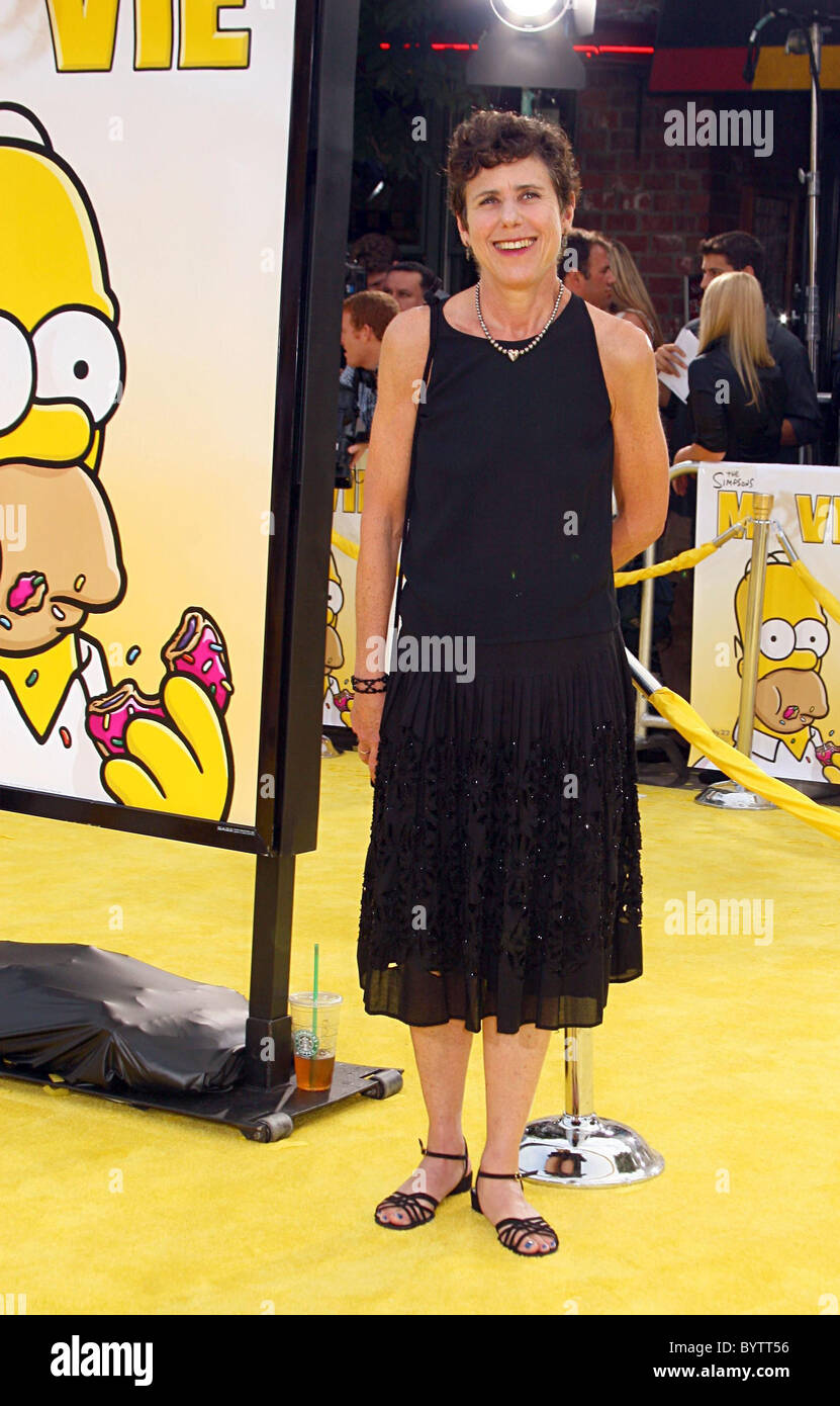 Julie Kavner Voice Of Marge Simpson The Simpsons Movie Premiere Stock Photo Alamy