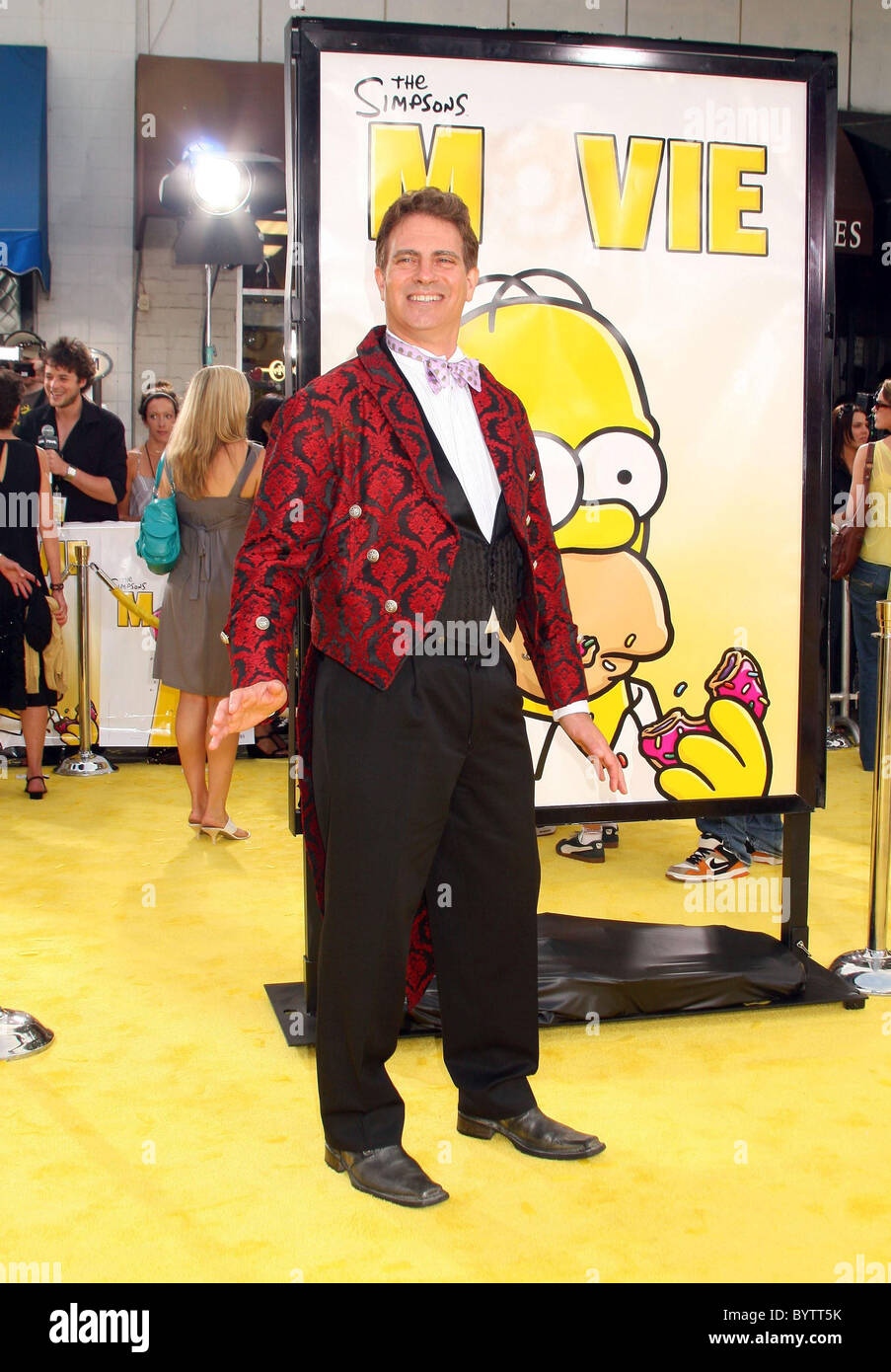 David Silverman Director The Simpsons Movie Premiere At The Mann Stock Photo Alamy
