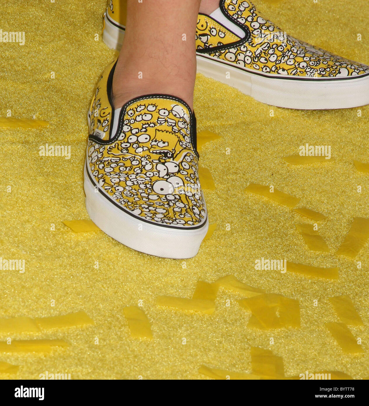 Kevin Smith S Vans With Bart Simpson On It The Simpsons Movie Stock Photo Alamy