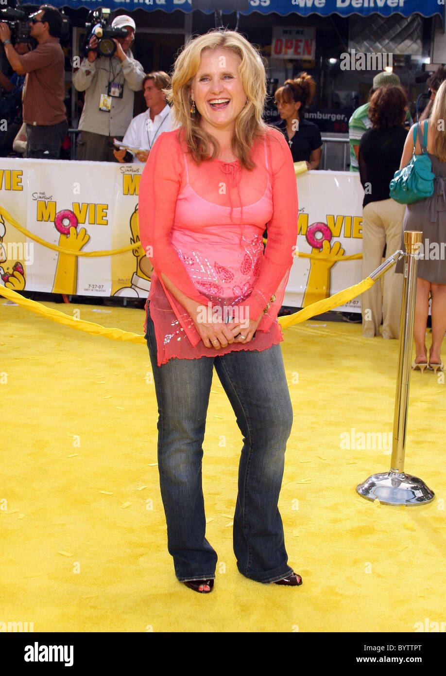 Nancy Cartwright Voice Of Bart Simpson The Simpsons Movie Stock Photo Alamy