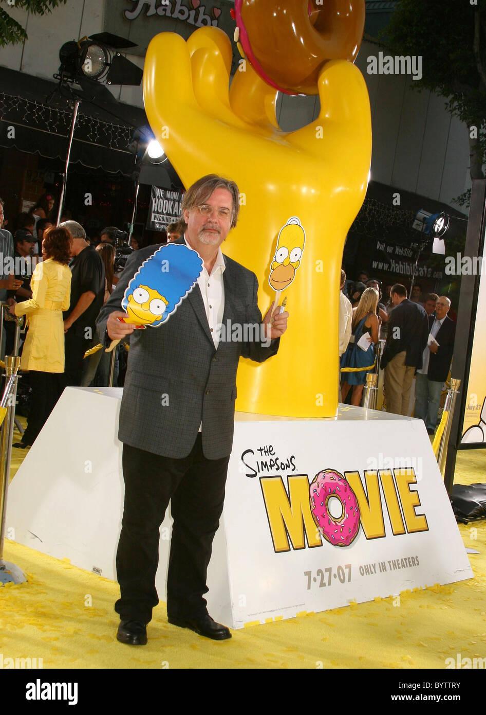 Matt Groening Creator Producer Writer The Simpsons Movie Premiere Stock Photo Alamy
