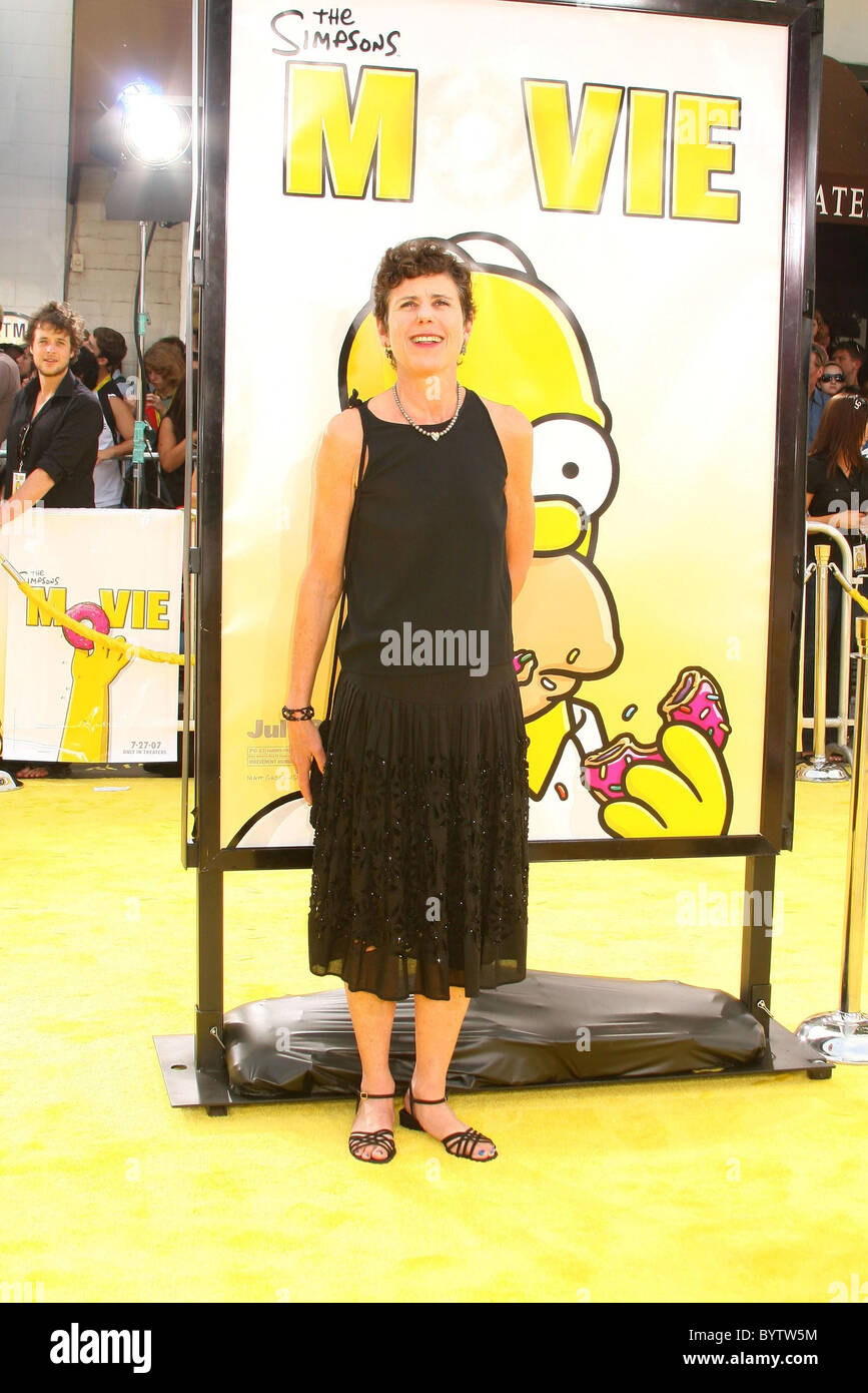 Julie Kavner Voice Of Marge Simpson The Simpsons Movie World Stock Photo Alamy